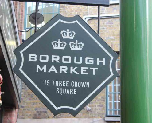 borough market manger a Londres